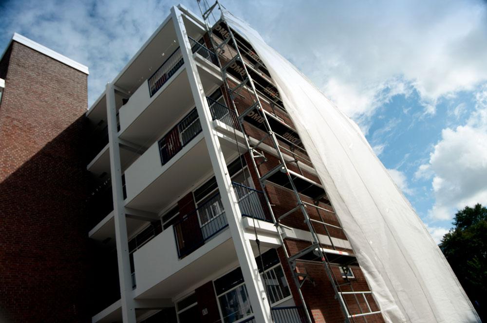 SLOOP EN RENOVATIE IN VOORBURG - image EVERTS-GROEP-WOLVENRADE-DEN-HAAG-GEVEL-VOEGEN-STEIGER-BLEIJENBERG- on http://evertsgroep.nl